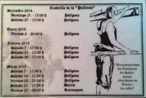 Calendario de Ensayos 2015