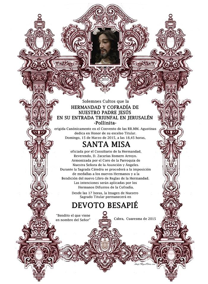 Solemnes Cultos, Cuaresma 2015