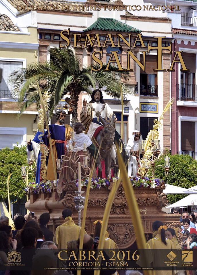 """Cartel """"Semana Santa de Cabra 2016"""""""